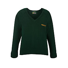 Buy Parkfields Middle School Unisex Jumper, Bottle Green Online at johnlewis.com