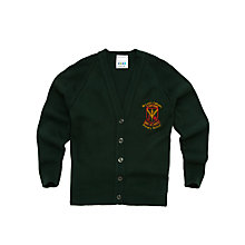 Buy St Louis Primary School Girls' Cardigan, Bottle Green Online at johnlewis.com