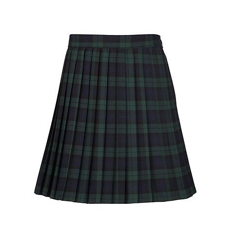 buy pleated tartan school skirt green navy