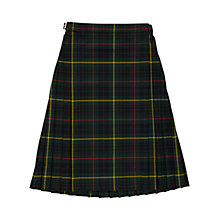 Buy St Louis Primary School Girls' Tartan Kilt, Green/Multi Online at johnlewis.com