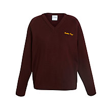 Buy Walton High Unisex Pullover, Maroon, Chest 38 Online at johnlewis.com