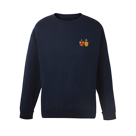 Buy Watford Girls' Grammar School Sports Sweatshirt, Navy Online at johnlewis.com