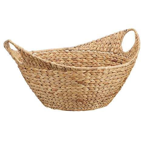 Buy John Lewis Water Hyacinth Shallow Open Basket Online at johnlewis.com