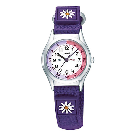 Buy Lorus RG243HX9 Children's White Round Dial Blue Strap Watch Online at johnlewis.com