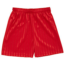 Buy School Girls' Games Shorts, Red Online at johnlewis.com