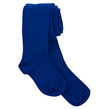 Buy Plain Girls' School Tights, Royal Blue Online at johnlewis.com
