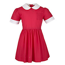 Buy St George's School Girls' Summer Dress, Cerise Online at johnlewis.com