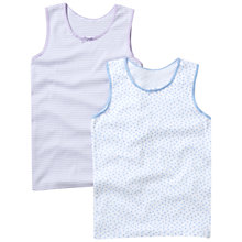 Buy John Lewis Girl Printed Camisole Vests, Pack of 2 Online at johnlewis.com