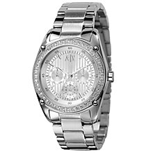 Buy Armani Exchange AX5030 Women's Round Silver Dial Stainless Steel Bracelet Watch Online at johnlewis.com