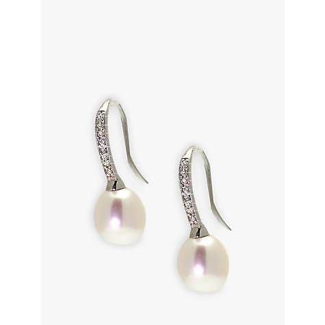 Buy Lido Pearls Cubic Zirconia Fresh Water Pearl Earrings Online at johnlewis.com