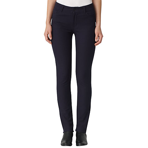 Buy Jigsaw Two Way Stretch Twill Skinny Jeans, Black Online at johnlewis.com