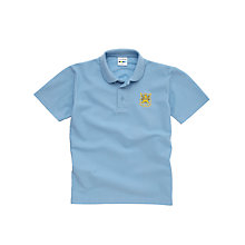 Buy The Castle School Unisex Polo Shirt, Pale Blue Online at johnlewis.com