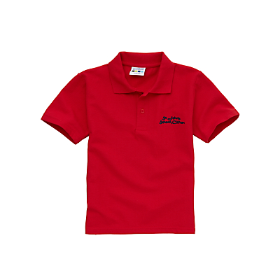 St John's CE VC Primary School Unisex Polo Shirt, Red