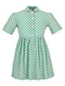 Redland High School Summer Dress, Green/Yellow