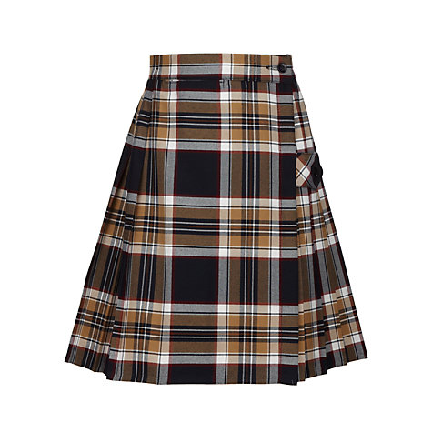 Buy Tockington Manor School Girls' Tartan Kilt, Brown/Multi Online at johnlewis.com
