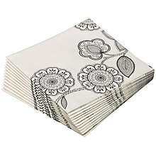 Buy John Lewis Folk Floral Napkins, Pack of 12 Online at johnlewis.com