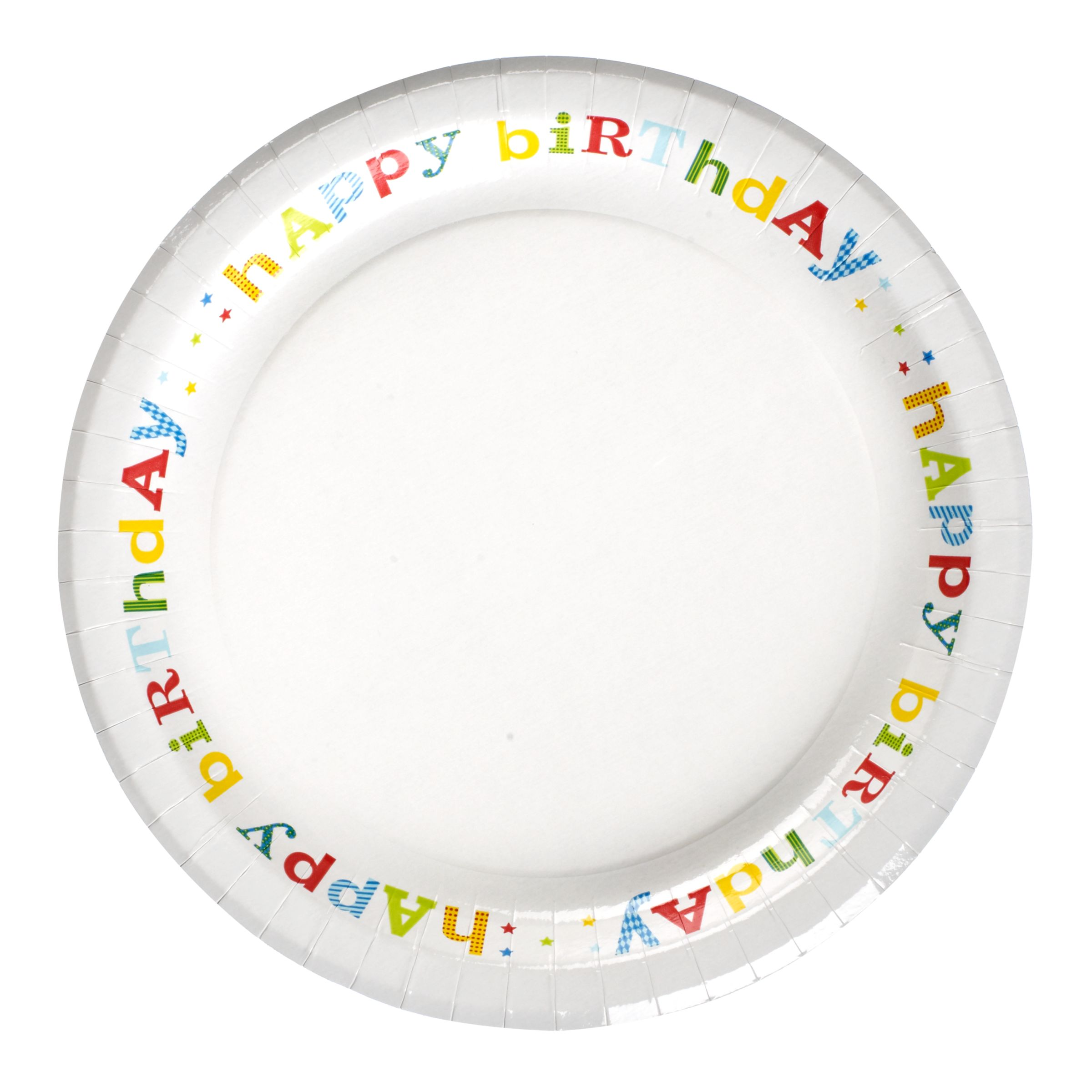 John Lewis Happy Birthday Paper Plates, Pack of 8
