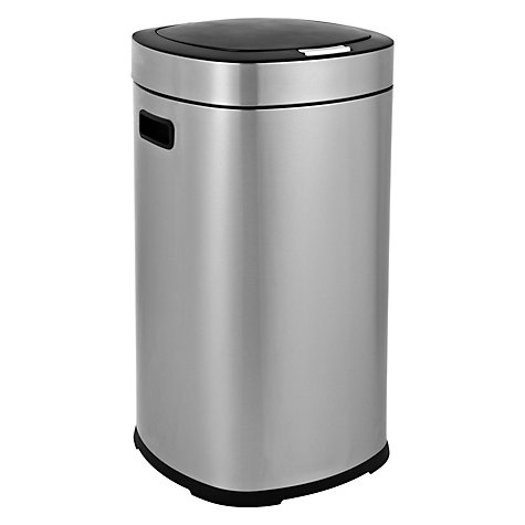 Buy John Lewis Stainless Steel Press Top Bin, 45L Online at johnlewis.com