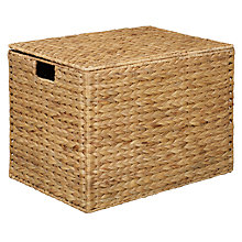 Buy John Lewis Water Hyacinth Storage Trunk, Large Online at johnlewis.com