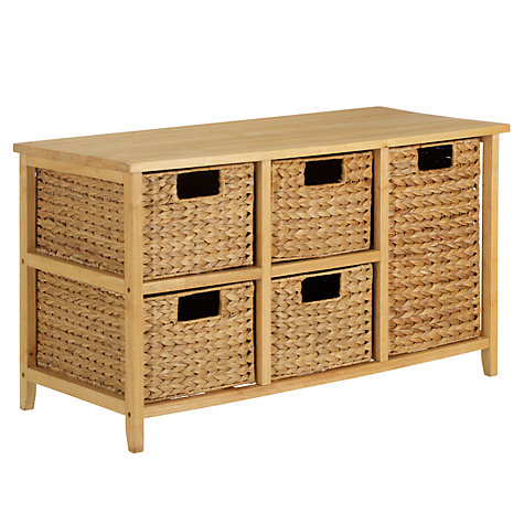 Buy John Lewis Water Hyacinth Storage Unit, 5 Drawers Online at johnlewis.com
