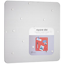 Buy Three by Three Square Magnetic Bulletin Board, Stainless Steel Online at johnlewis.com