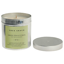 Buy True Grace Green Tea and Citrus Scented Candle Tin Online at johnlewis.com