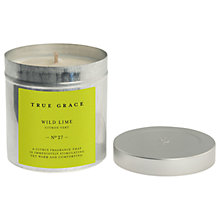 Buy True Grace Wild Lime Scented Candle Tin Online at johnlewis.com