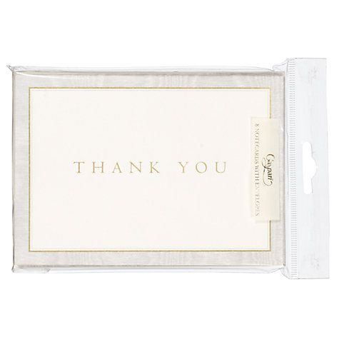 Buy Caspari Thank You Cards, Silver Moiré, Pack of 8 Online at johnlewis.com