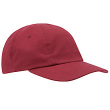 Buy School Unisex Baseball Cap, Maroon Online at johnlewis.com