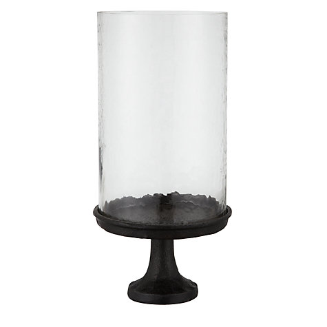 Buy John Lewis Pedestal Stand Hurricane Lamp, Dia.15cm Online at johnlewis.com