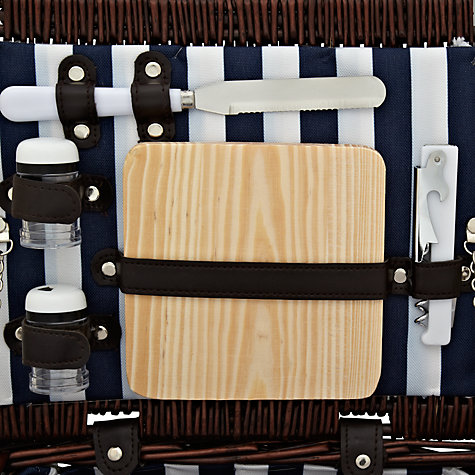 Buy John Lewis Dark Willow Picnic Hamper, Coastal, 4 Person Online at johnlewis.com