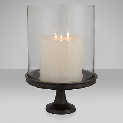 Buy John Lewis Pedestal Stand Hurricane Lamp, Dia.24cm Online at johnlewis.com