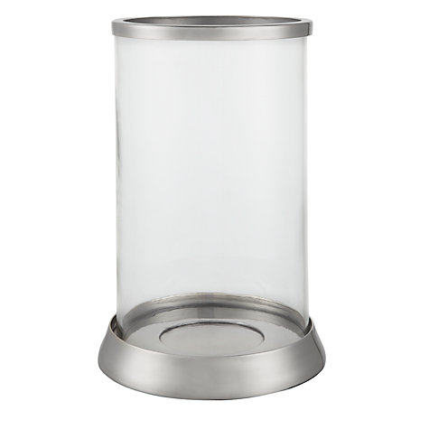 Buy John Lewis Silver Trim Hurricane Lantern, Small Online at johnlewis.com