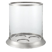 Buy John Lewis Silver Trim Hurricane Lantern, Large Online at johnlewis.com