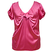 Buy Chesca Pleat V-Neck Silk Blouse Online at johnlewis.com