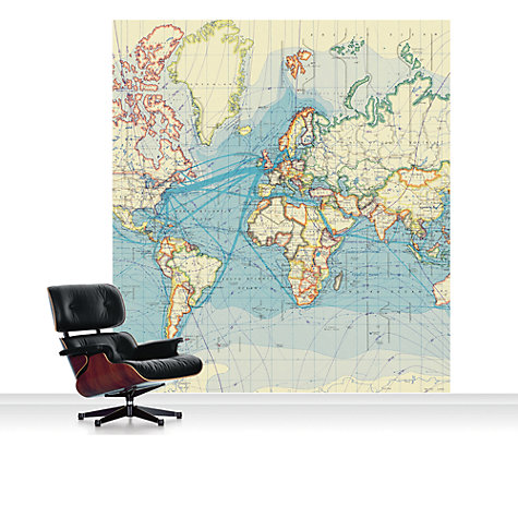 Buy Surface View World Surface Routes Mural Online at johnlewis.com