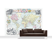 Buy Surface View Map of the World Mural Online at johnlewis.com