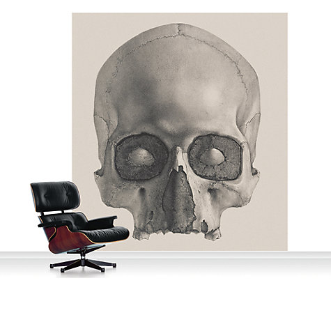 Buy Surface View Engraving of a Human Skull Mural Online at johnlewis.com