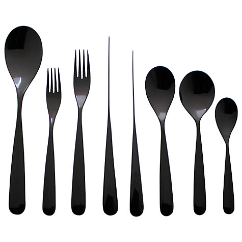 Buy Robin Levien for John Lewis Propeller Black Cutlery Online at johnlewis.com
