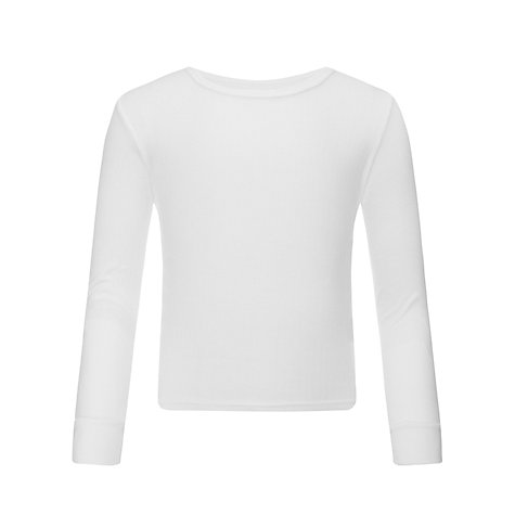 Buy John Lewis Boy Thermal Long Sleeve Vest, White Online at johnlewis.com