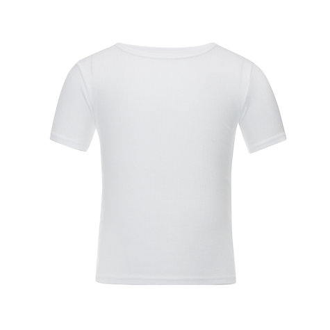 Buy John Lewis Boy Thermal Short Sleeve Vest, White Online at johnlewis.com
