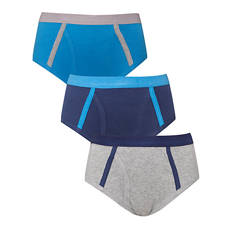 Buy John Lewis Boy Briefs, Pack of 3, Multi Online at johnlewis.com