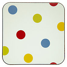 Buy John Lewis Bright Spot Coasters, Multi, Set of 4 Online at johnlewis.com