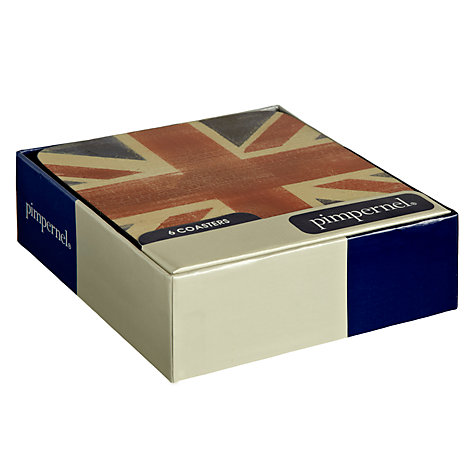 Buy Pimpernel Union Jack Coasters, Set of 6 Online at johnlewis.com