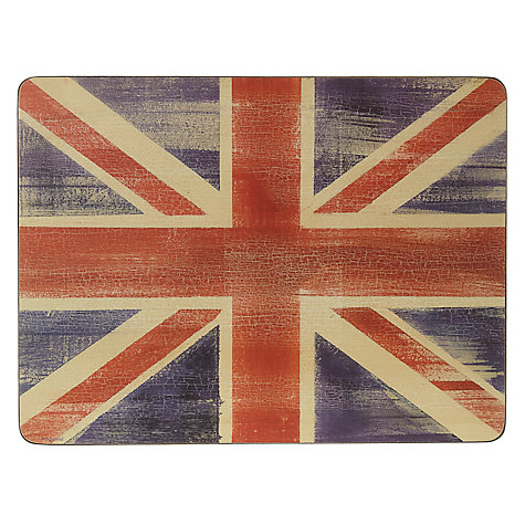 Buy Pimpernel Union Jack Placemats, Set of 6 Online at johnlewis.com