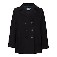 Buy School Girls' Double Breasted Cranston Coat, Black Online at johnlewis.com