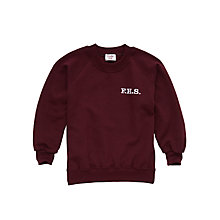 Buy Francis Holland School Girls' Sports Sweatshirt, Maroon Online at johnlewis.com
