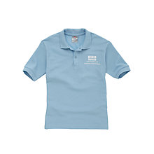Buy International Community School Unisex Polo Shirt, Sky Blue Online at johnlewis.com