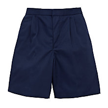 Buy Boys' School Summer Shorts, Navy Online at johnlewis.com