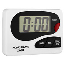 Buy John Lewis White Digital Kitchen Timer Online at johnlewis.com